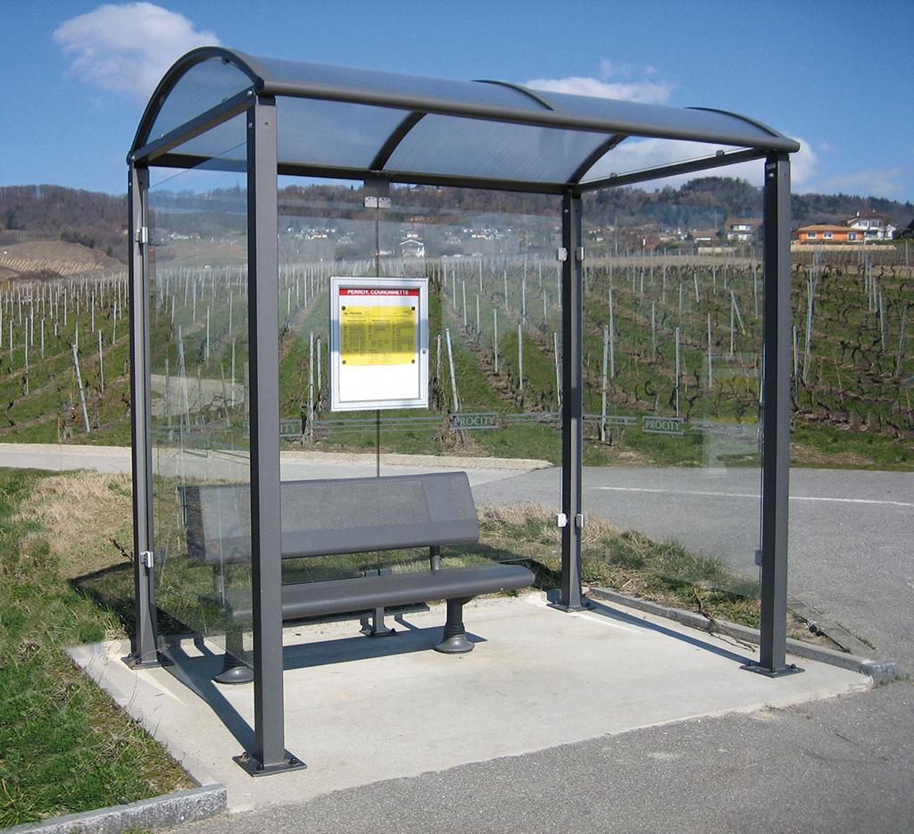 Abris voyageurs avec banc