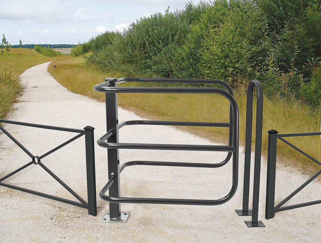 Barrière contrôle d'accès pietons