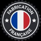 pictogramme fabrication française avec drapeau bleu blanc rouge