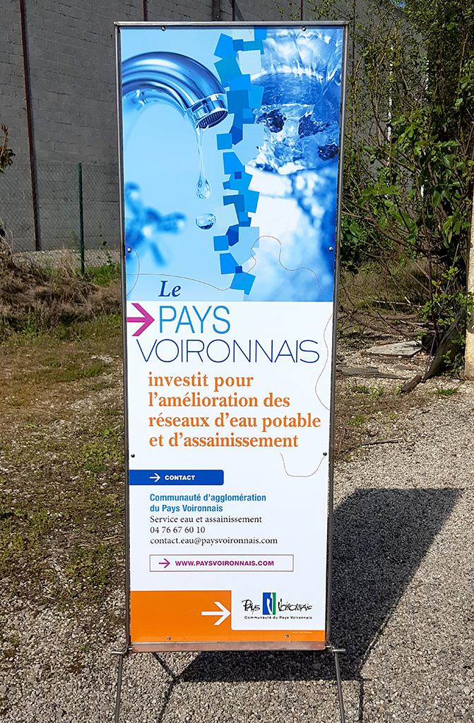 Panneau info Pays Voironais