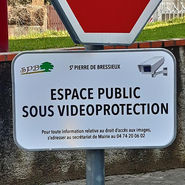 Panneau vidéo protection
