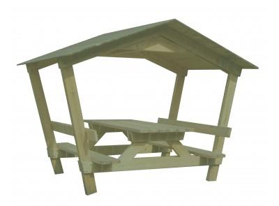 Table banc avec toit